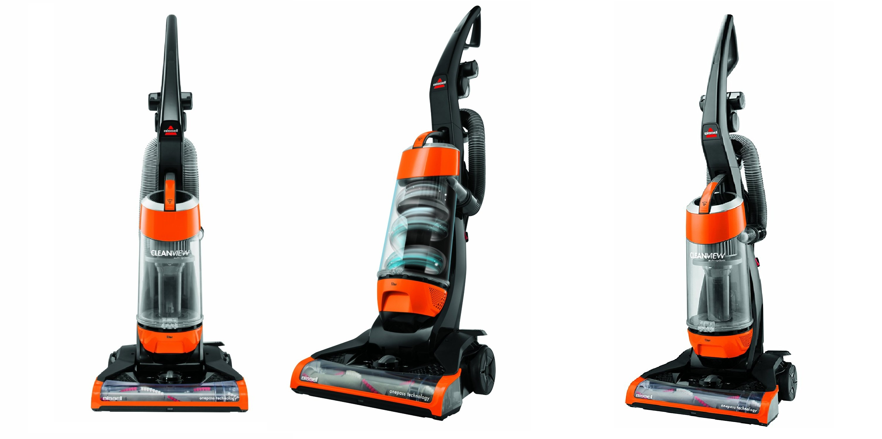 Bissell Clean View Bagless Upright Vacuum With Onepass